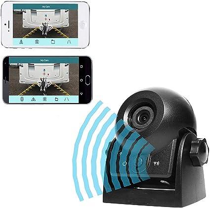 Caméra de recul Vue arrière de voitur Caméra WIFI Magnétique Etanche IP68 Caméra de recul avec Smart APP pour iPhone et Android, Vision de Nuit Marche ...