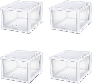 $109 » Sterilite 2310-4 27 QT/26 Liter Stacking Drawer (Pack of 4)