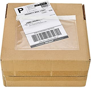 "7.5"" x 5.5"" Clear Adhesive Top Loading Packing List/Shipping Label Envelopes (200 Pack)"
