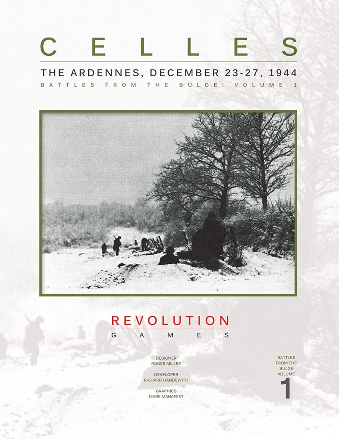 REV  Celles, the Ardennes, December 2327, 1944, Battles fo the Bulge, Board Game by REV Revolution Games