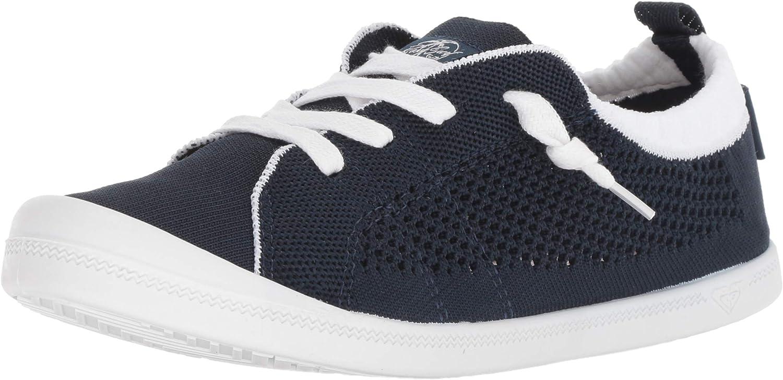 Roxy Womens Bayshore Knit Slip on Fashion Sneaker Sneaker
