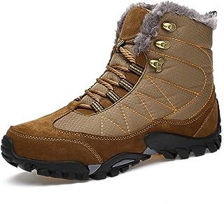 TQGOLD Bottes de Neige Homme Femme Chaussures de Trekking Chaud Bas Rond Haut Bottes Hiver Boots Fourrure Plate Bottes de ...