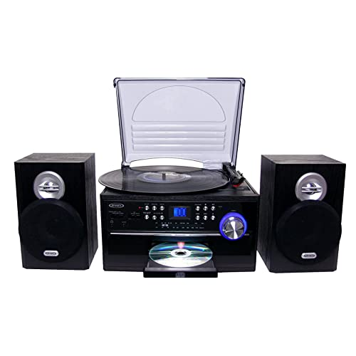Jensen All-In-One Hi-Fi Stereo CD Player Turntable & Digital AM