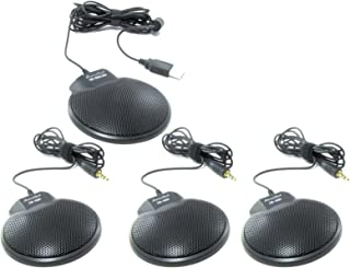Sound Tech TableTop Conference Microphone Kit ,4 Microphones daisy chain, CM-1000USB CM-1000