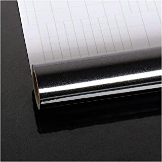 Black Contact Paper Locker Wallpaper Peel and Stick 15.74×118.11inches Removable Adhesive Solid Color Wall Paper for Cabinet Countertop