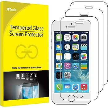 JETech Schutzfolie für iPhone SE (Ausgabe 2016), iPhone 5s, iPhone 5 und iPhone 5c, Gehärtetem Glas Displayschutzfolie, 3 Stück