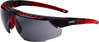 Uvex by Honeywell Avatar Safety Glasses, Red Frame with Gray Lens & HydroShield Anti-Fog Coating (S2861HS)