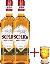 2 Flaschen Soplica Haselnuss - Orzech Laskowy 32% - 2x0.5l  Gratis Soplica Pinnchen / Schnapsglas