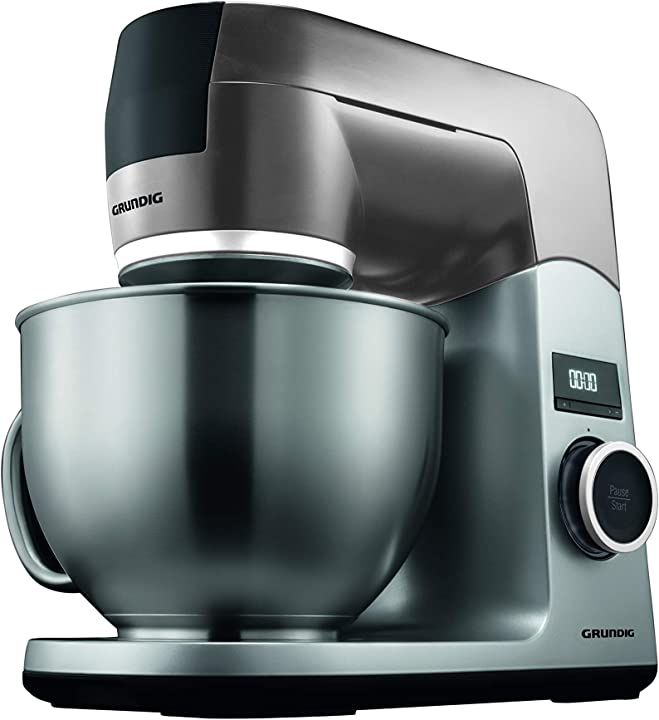 Robot da cucina, 1000 w, 4,6 l, ciotola in acciaio inox, colore: nero/argento grundig kmp8650s GMS2450