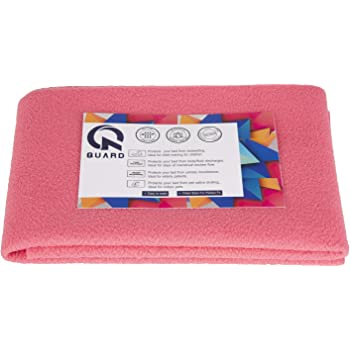 Quard Waterproof Baby Dry Sheet 70 x 50 cm (Small, Rose Pink)
