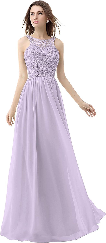 CladiyaDress Women Lace Illusion Long Prom Dress Bridesmaid Gowns C074LF