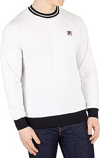 Fila Men's Cosmo Embossed Velour Sweatshirt, White