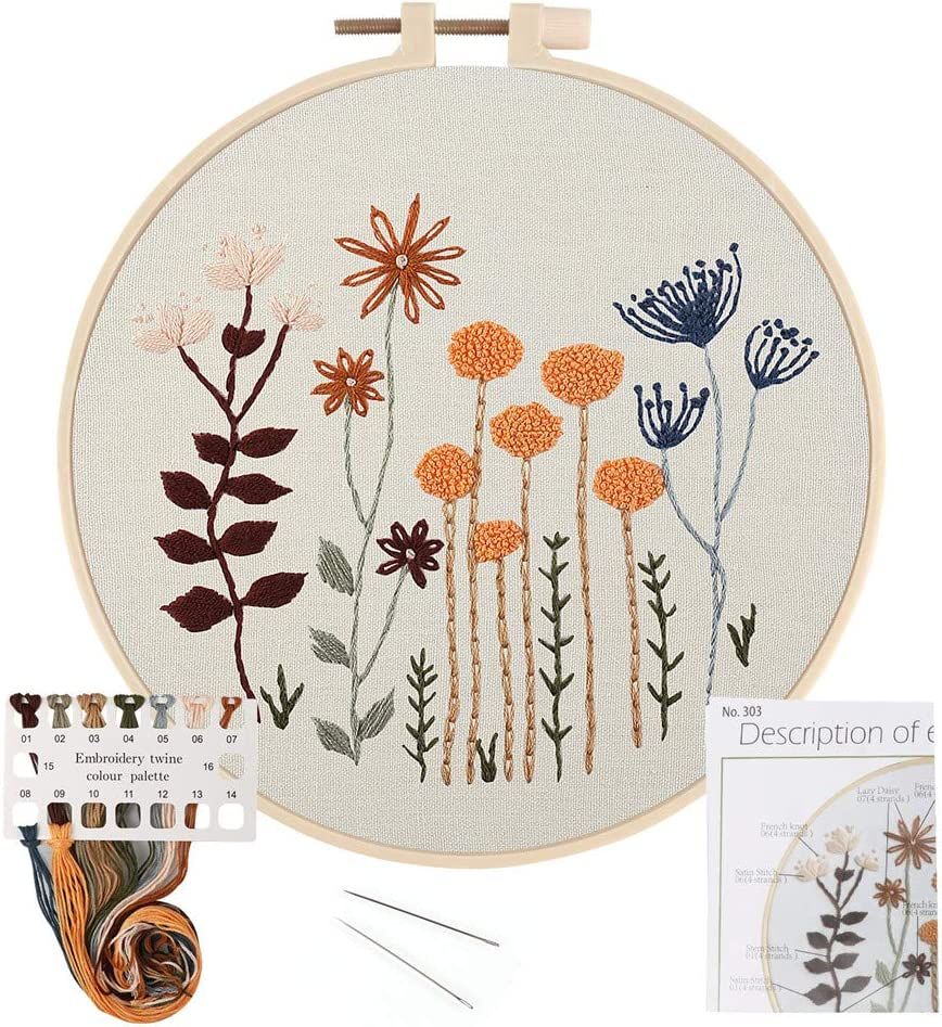 LIVEBOX Embroidery Kit for Beginners Kits Limited time cheap sale Don't miss the campaign Stitch Stamp Cross DIY