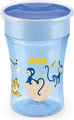 NUK Magic Cup vaso antiderrame bebe | Borde a prueba de derrames de 360° | +8meses | Sin BPA | 230ml | Mico (azul) ...