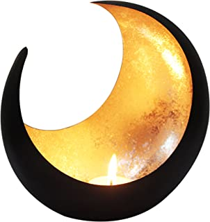 MAADES Photophore marocain Moon 20cm grand doré | Bougeoir Lanterne marocaine pour l'extérieur au jardin l'intérieur sur l...