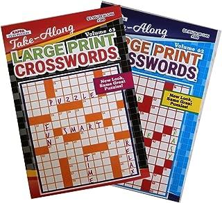 Take Along Large Print Crossword Puzzles 12 pcs sku# 1187396MA