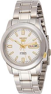 Seiko Men's SNKK07 5 Stainless Steel White Dial Watch