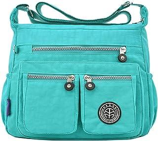 Wultia - Bags for Women 2019 Women's Fashion Solid Color Water Repellent Nylon Shoulder Bag Crossbody Bag Bolsa Feminina Green