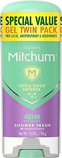 Mitchum Women Gel Antiperspirant Deodorant Twin Pack, Shower Fresh, 3.4oz.