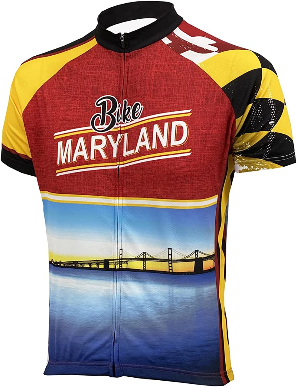 Peak 1 Sports Maryland Excellent online shop Men's Jersey Cycling