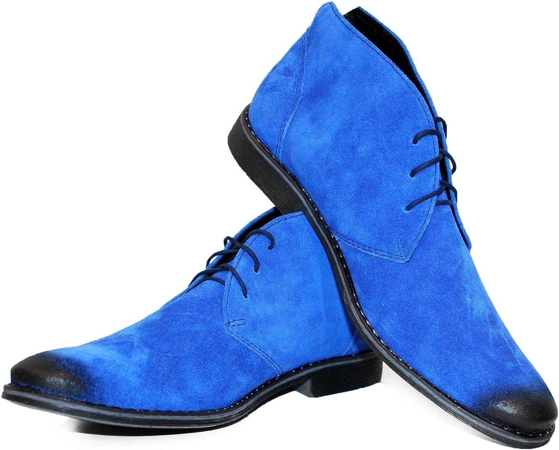 PeppeShoes Modello Bilgetto - Handgemachtes Italienisch Bunte Herrenschuhe Lederschuhe Herren Navy blau Stiefeletten Chukka Stiefel - Rindsleder Wildleder - Schnüren B07KSKJWRL    Hervorragende Eigenschaften