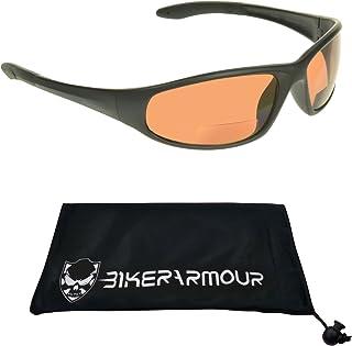 6ecf7100242 Motorcycle Blue Blocker HD Lens Bifocal Sunglasses 2.00 for Men and Women.  Z87.1