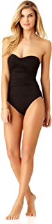 Women's Twist Front Shirred One Piece Swimsuit