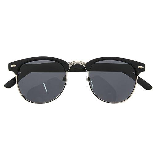913825e7aa8 Polarized Designer Inspired Vintage Sunglasses Half Frame Classic Retro