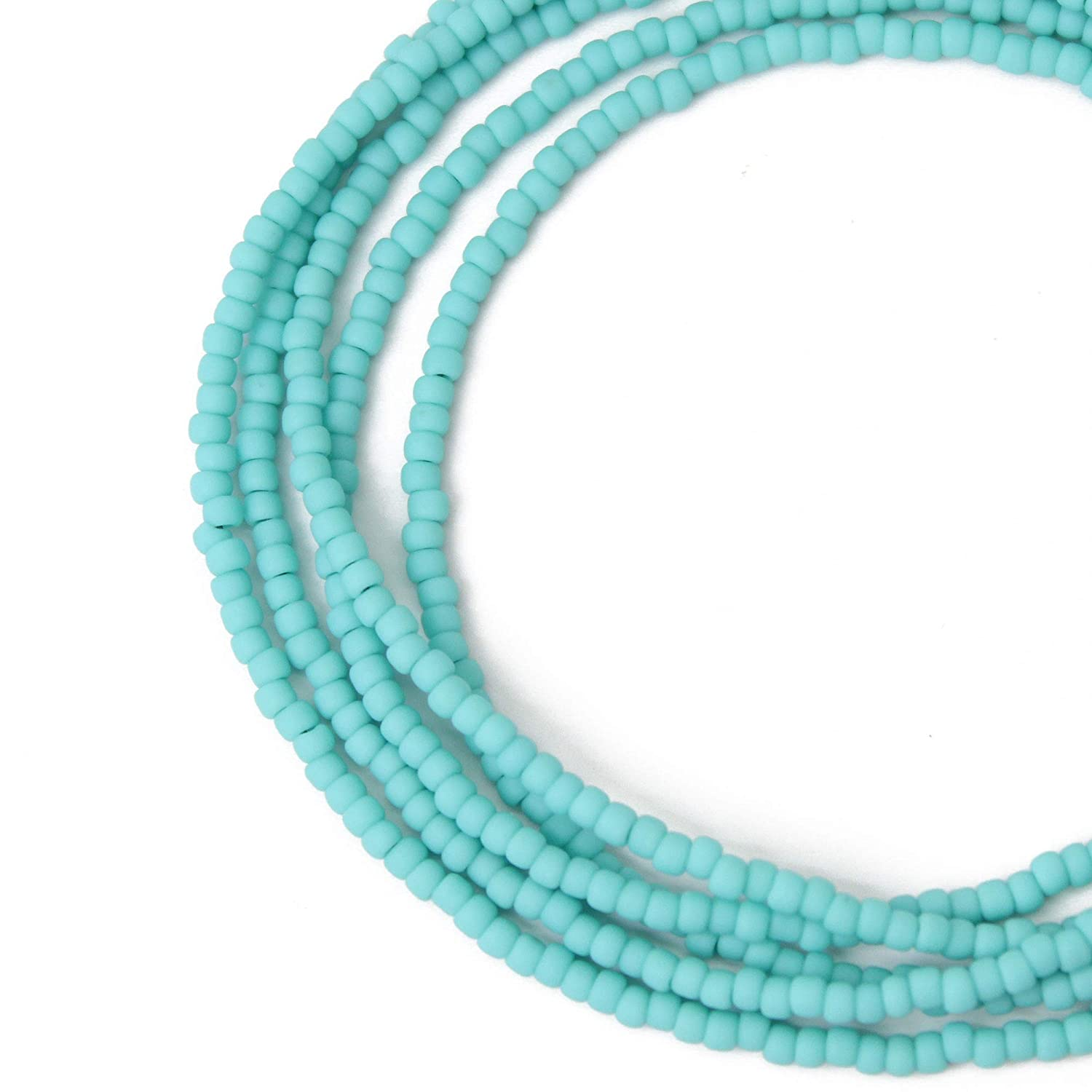 Turquoise Green Seed Bead Color Necklace Matte Finish Rare Award-winning store