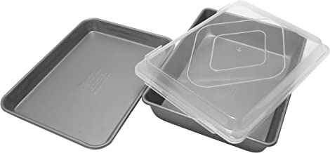 product image for G & S Metal Products Company Non-Stick 3 Piece Bakeware Set, Set of 3, Gray