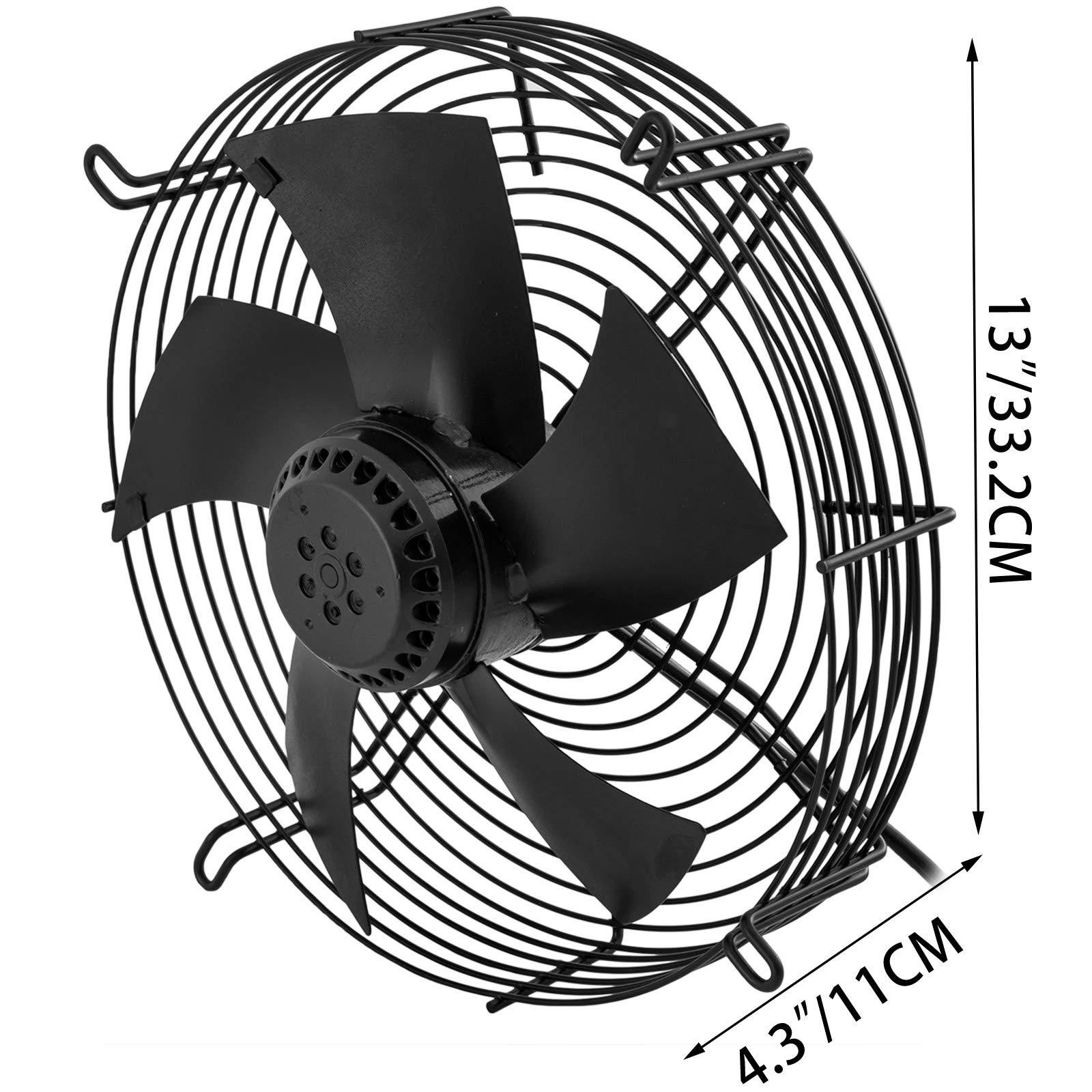 FlowerW YWF4E-250 extractor industrial de 10 pulgadas, ventilador de escape de metal axial, ventilador, ventilador ...