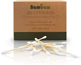 Bamboo Cotton Buds | Eco Cotton Buds | Cotton Swab | Wooden Cotton Bud | Eco Friendly packaging | Recyclable & Biodegradable cotton buds | Bambaw (200)