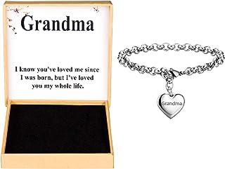 filigree gold or rose gold envelope in silver gift for grandma super granny Favorite grandma heart bracelet in silver love stickers