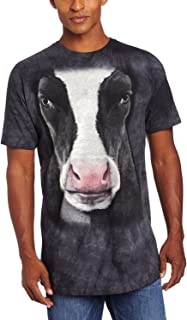 Men's Black Cow Face T-Shirt