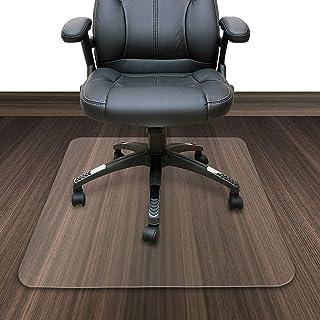 Zinn Alfombrilla de protección de suelo de madera dura, antiarañazos, transparente para silla de oficina, ruedas y piernas, protector de alfombra a prueba de suciedad, deslizamiento suave