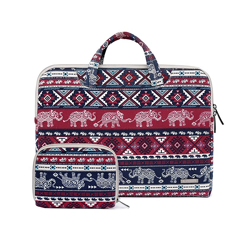 15.6 inch Canvas Laptop Bag Waterproof Laptop Sleeve Bag Laptop Briefcase for 14 inch to 15.6 inch Laptop and MacBook Pro 15 Laptop Case-Elephant qsaxsoquxd