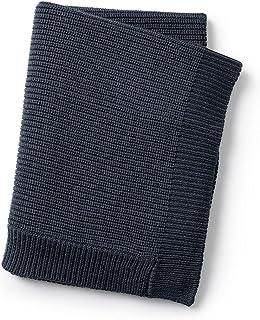 Elodie Details - Ullstickad filt - enbär blå