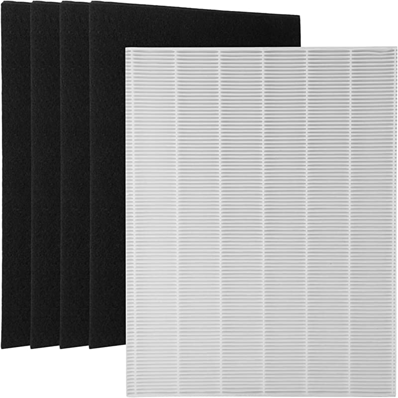 Wolfish 1 True HEPA Filter 4 Carbon Replacement Filters A 115115 Size 21 For Winix PlasmaWave Air Purifier 5300 6300 5300 2 6300 2 P300 C535