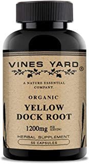 Vines Yard Yellow Dock Root Capsules for Digestive Tract Disorders | Rumex Crispus | 100% Natural Herbal Supplement Health...
