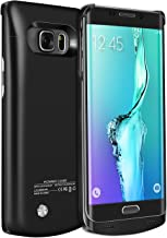 RUXELY Galaxy S6 Edge Plus Battery Case, 4200mAh Portable External Backup Charging Case,Rechargeable Power Charger Pack for Samsung Galaxy S6 Edge Plus(Not for Galaxy S6 Edge)(Black)