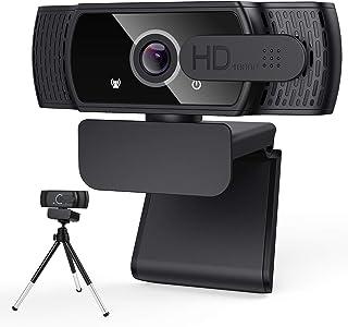 1080P HD Webcam with Privacy Cover & Tripod, LucaSng Desktop Laptop Computer Webcam with USB & Built in Noise Reduction Mi...