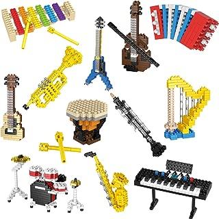 Funlittletoys 12 Boxes Mini Music Building Blocks, Musical Instruments Set Easter Party Favors for Kids, Easter Egg Fillers
