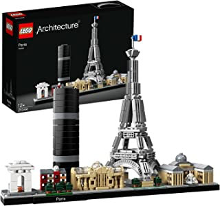 LEGO 21044 Architecture Paris Model Building Set with Eiffel Tower and The Louvre, Skyline Collection, Construction Collec...