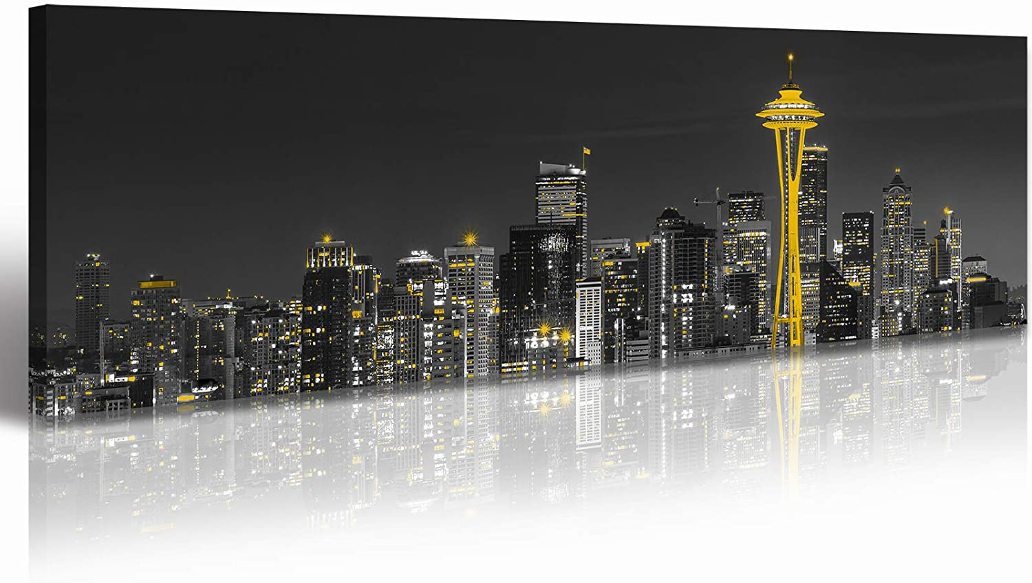 Seattle Skyline Max 70% OFF City Cheap mail order specialty store Canvas Wall Art 14