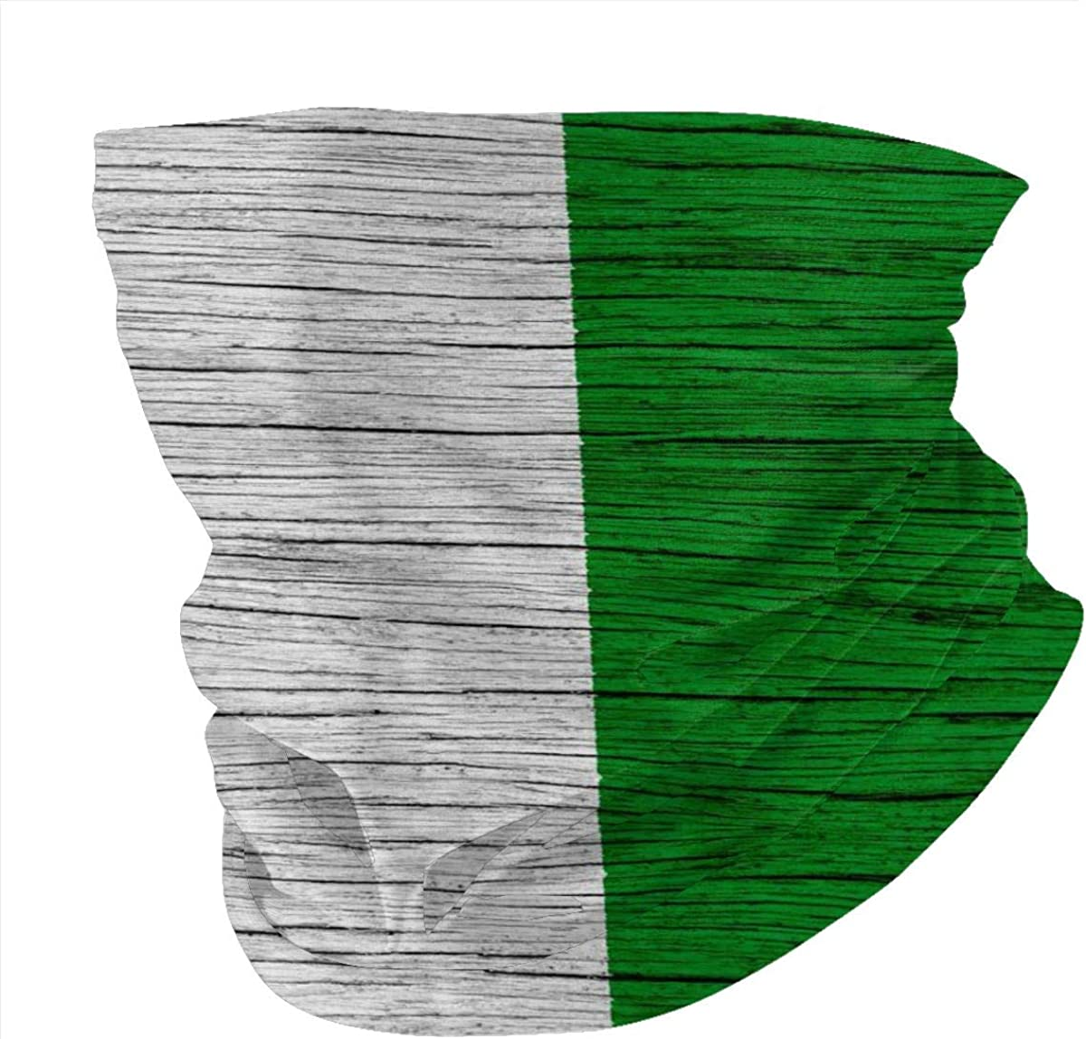 Nigeria Wooden Texture Nigerian Flag Headband Headwear Windbreak Scarf Face Mask Washable Dust Mask Balaclava Neck Bandana