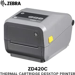 Zebra - ZD420c Ribbon Cartridge Desktop Printer for Labels and Barcodes - Print Width 4 in - 203 dpi - Interface: Wifi, Bluetooth, USB - ZD42042-C01W01EZ
