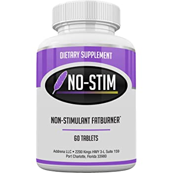 No-Stim Non Stimulant Fat Burner Diet Pills That Work- Appetite Suppressant & Best Caffeine Free Weight Loss Supplement- Natural Thermogenic Fat Loss Pill- 60 Tablets