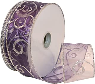 Best dark purple wired ribbon Reviews
