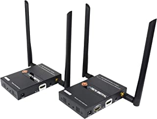 J-Tech Digital 2x2 Wireless Multi-Channel HDMI Matrix/Extender up to 45m (150ft) 1080P with IR and Remote Control [JTECH-WEX-22D]