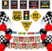 Heidaman 31Pce Racing Car Birthday Party Supplies Car Birthday Decorations Decor For Boys Include Banner Balloons Racing C...